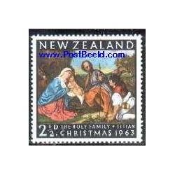 1 عدد تمبر کریستمس - تابلو نقاشی اثر تیتان - نیوزلند 1963