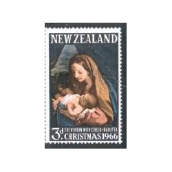 1 عدد تمبر کریستمس - تابلو نقاشی اثر مارتا - نیوزلند 1966