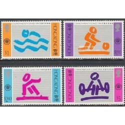 4 عدد تمبر بازیهای ورزشی کشورهای مشترک المنافع - هنگ کنگ 1994