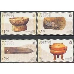 4 عدد تمبر باستان شناسی - هنگ کنگ 1996