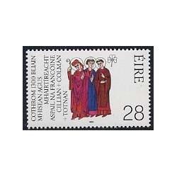 1 عدد تمبر مشترک با آلمان - کیلیان ، کلونوت ، توتنان - ایرلند 1989