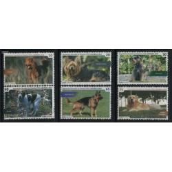 6 عدد تمبر سگها - نمایشگاه تمبر کره - کوبا 2014