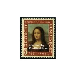 1 عدد تمبر لئوناردو داوینچی - تابلو مونالیزا - جمهوری فدرال آلمان 1952