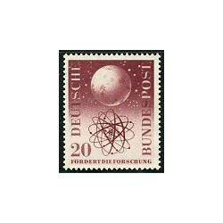 1 عدد تمبر تحقیقات علمی - جمهوری فدرال آلمان 1955