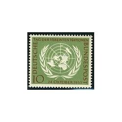 1 عدد تمبر دهمین سالگرد سازمان ملل - جمهوری فدرال آلمان 1955