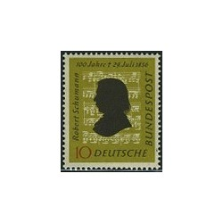 1 عدد تمبر روبرت شومان - آهنگساز - جمهوری فدرال آلمان 1956