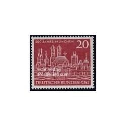 1 عدد تمبر هشتصدمین سال مونیخ - جمهوری فدرال آلمان 1958