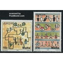 2 عدد تمبر مشترک اروپا - Europa Cept - یکپارچه سازی - مالت 2006