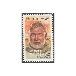 1 عدد تمبر ارنست همینگوی - نویسنده - آمریکا 1989