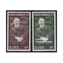 2 عدد تمبر جیمز کانلی - سوسیالیست - ایرلند 1968