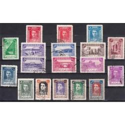785 - اولین سری پستی تمبر با تصویر محمدرضا پهلوی 1321 مهرخورده