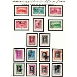 803 - دومین سری پستی تمبر با تصویر محمدرضا پهلوی 1322 الی 24 مهرخورده