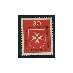 1 عدد تمبر آمبولانس سنت جونز - جمهوری فدرال آلمان 1969