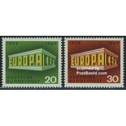 2 عدد تمبر مشترک اروپا - Europa Cept - جمهوری فدرال آلمان 1969