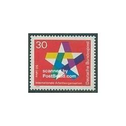 1 عدد تمبر پنجاهمین سالگرد سازمان بین المللی کار - جمهوری فدرال آلمان 1969