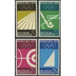 4 عدد تمبر المپیک مونیخ - جمهوری فدرال آلمان 1969