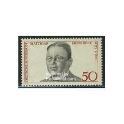 1 عدد تمبر ماتیاس ارزبرگر - سیاستمدار - جمهوری فدرال آلمان 1975