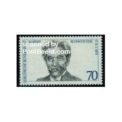 1 عدد تمبر آلبرت شوایتزر - برنده جایزه صلح نوبل - جمهوری فدرال آلمان 1975