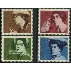 4 عدد تمبر سال بین المللی زن - جمهوری فدرال آلمان 1975