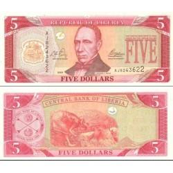 اسکناس 5 دلار - لیبریا 2003