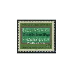 1 عدد تمبر پائول گرهارد - جمهوری فدرال آلمان 1976
