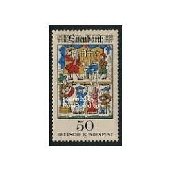 1 عدد تمبر دکتر جان اندیاس ایزنبارس - جراح - جمهوری فدرال آلمان 1977