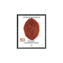1 عدد تمبر دانشگاه ماینز  - جمهوری فدرال آلمان 1977