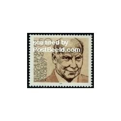 1 عدد تمبر پاستور فریتز فون بودلشوینگ - وزیر دارائی - جمهوری فدرال آلمان 1977