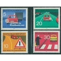 4 عدد تمبر قوانین ترافیک - جمهوری فدرال آلمان 1971