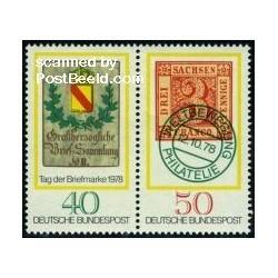 2 عدد تمبر روز تمبر - جمهوری فدرال آلمان 1978