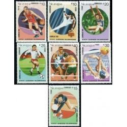 7 عدد تمبر بازیهای المپیک - نیکاراگوئه 1988