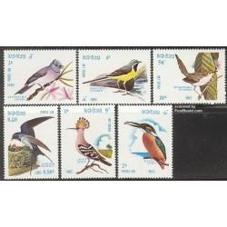6 عدد تمبر پرندگان - لائوس 1982
