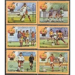 6 عدد تمبر جام جهانی فوتبال اسپانیا - لائوس 1982