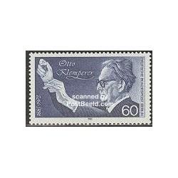 1 عدد تمبر اتو کلمپرر - آهنگساز و رهبر ارکستر - برلین آلمان 1985