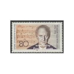 1 عدد تمبر ویلهلم فورت وانگلر - آهنگساز و رهبر ارکستر - برلین آلمان 1986