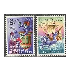2 عدد تمبر مشترک اروپا - Europa Cept - فورکلور - ایسلند 1981