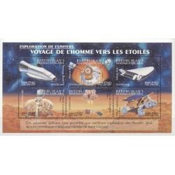 1 عدد مینی شیت پروازهای فضائی - ماداگاسکار 2000