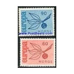 2 عدد تمبر مشترک اروپا - Europa Cept - نروژ 1965
