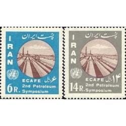 1158 - تمبر دومین سمپوزیوم بین المللی توسعه صنایع نفتی آسیا و خاورمیانه 1341 تک