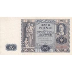 اسکناس 20 زلوتیچ - لهستان 1936 کیفیت بسیار خوب در حد بانکی