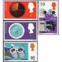 4 عدد تمبر اکتشافات بریتانیا - انگلیس 1967