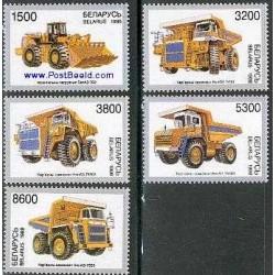 5 عدد تمبر صنعت خودرسازی بلاز  - بلاروس 1998