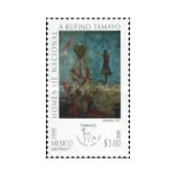 1 عدد تمبر سالروز تولد روفینو تامایو نقاش - تابلو نقاشی - مکزیک 1999