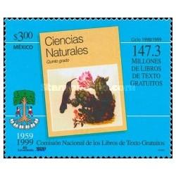 1 عدد تمبر چهلمین سالگرد کمیسون کتابهای درسی رایگان - 2 - مکزیک 1999