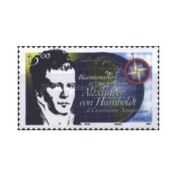 1 عدد تمبر دویستمین سالگرد الکساندر فون هامبولدت - جغرافیدان و کاشف آمریکای جنوبی - مکزیک 1999