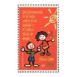 1 عدد تمبر روز جهانی مبارزه با مواد مخدر - مکزیک 2000