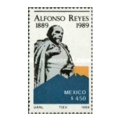 1 عدد تمبر صدمین سالگرد تولد آلفونزو ریز - نویسنده و فیلسوف - مکزیک 1998