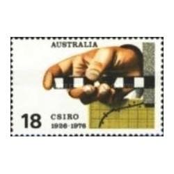 6 عدد تمبر سازمان پژوهشهای علمی و تحقیقاتی کشورهای مشترک المنافع - استرالیا 1976