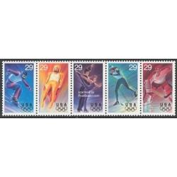 5 عدد تمبر المپیک زمستانی - آمریکا 1994 - B