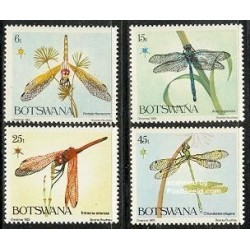 4 عدد تمبر کریستمس - سنجاقکها - بوتسوانا 1983